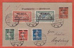 MEMEL ENTIER POSTAL DE 1920 DE HEYDEKRUG - Lettres & Documents