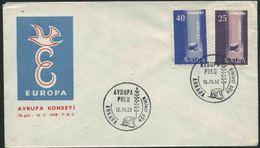 1958 Europa C.E.P.T., F.D.C. Turchia - Europa-CEPT