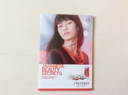 Dépliant Shisheido - Cartas Perfumadas