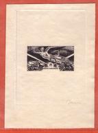 SERIE DE LA VICTOIRE EPREUVE D' ARTISTE EN NOIR SIGNEE DECARIS SANS LE NOM DU PAYS - 1946 Anniversaire De La Victoire