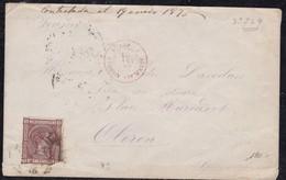 France, Marques D'entrée - Càd Rouge Espagne 1 / Oloron Ste Marie Sur Enveloppe - Postmark Collection (Covers)