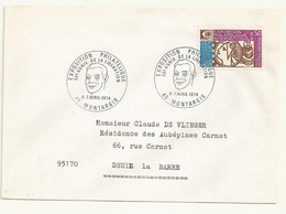 THEME EXPO PHILATELIQUE DE MONTARGIS 6/7 AVRIL 1974 - Cachets Commémoratifs