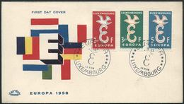 1958 Europa C.E.P.T., F.D.C. Lussemburgo - Europa-CEPT