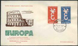 1958 Europa C.E.P.T., F.D.C. Italia - Europa-CEPT