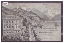 DISTRICT DE VEVEY - MONTREUX CLARENS  - HOTEL REGIS - B ( TROU D'EPINGLE A GAUCHE ) - VD Vaud