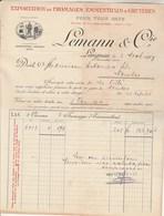 Suisse Facture Illustrée 3/11/1909 LEMANN Fromages Emmenthal & Gruyère LANGNAU - Switzerland