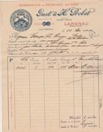 Suisse Facture Illustrée 10/5/1909 GUST & PROBST Fromages Marque RIGI  LANGNAU - Switzerland