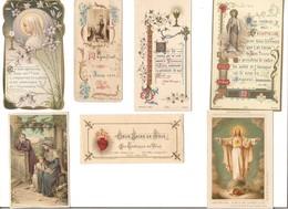 LOT 26 IMAGES PIEUSES DIVERSES - - Images Religieuses