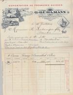 Suisse Facture Illustrée 18/7/1906 G BÜHLMANN Fromages Suisses GROSSHÖSCHSTETTEN EMMENTHAL - Suisse
