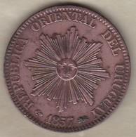 REPUBLICA ORIENTAL DEL URUGUAY. 20 CENTESIMOS 1857 D . KM# 9. SUP / XF - Uruguay