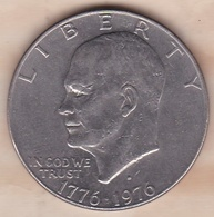 Etats Unis .1 Dollar 1976 D Denvers. Eisenhower. Bicentenaire 1776 1976 - Federal Issues