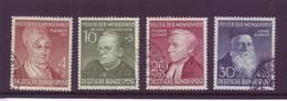 Germania 1952 - Benefattori Dell'umanità, 4v Con Annullo Rotondo. Catalogo 110 € - Usati