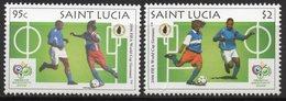 St LUCIA 2006 - Mondial De Football, Allemagne 2006 - 2 Val Neufs // Mnh - St.Lucie (1979-...)