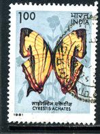 Inde 1981 Papillon Cyrestis Achates ° - Inde