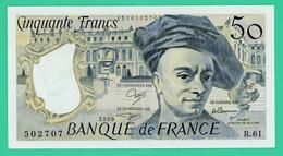 50 Francs - France - Quentin De La Tour - N° R.61/502707 - 1990  -Sup - - 50 F 1976-1992 ''quentin De La Tour''