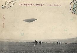 """Dirigeable """"LE  LEBAUDY""""  Timbre à Date  TOUL 1908 Type 01 Bureau De Recettes - Cartes Postales"""