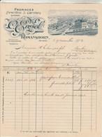 Suisse Facture Illustrée 9/11/1907 ENGEL   Fromages Emmenthal & Gruyère ROMANSHORN - Switzerland