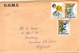 AITUTAKI. Timbres De 1972 Sur Enveloppe Ayant Circulé. Fleurs. - Aitutaki