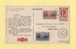 Carte Plasmarine - Tahiti - Papeete - 30-10-1954 - Tahití