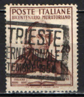 TRIESTE - AMGFTT - 1950 - BICENTNARIO MURATTIANO - USATO - 7. Trieste