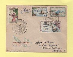 Nouvelle Caledonie - Sports Nautique - Premier Jour - Noumea - 2 Juil 1962 - Signature Du Graveur - Briefe U. Dokumente