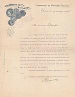 Suisse Facture Lettre Illustrée 24/12/1909 GERBER & Cie Fromages Suisses THOUNE - Switzerland