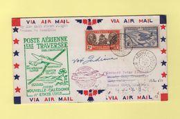 1ere Traversee Nouvelle Caledonie Etats Unis - 21 Juil 1940 - Noumea Honolulu - Muller N°21 - Luftpost