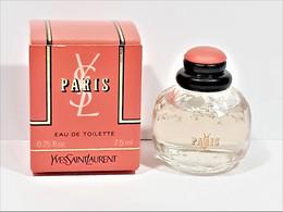 Miniatures De Parfum  PARIS  De  Yves Saint Laurent    7.5 Ml  EDT   + Boite - Miniaturen Flesjes Dame (met Doos)