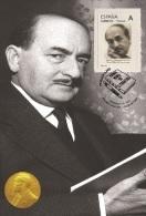 Spain 2015 - Nobel Prize 1959 - Literature - Salvatore Quasimodo/Italy Maxicard - Premio Nobel