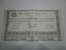 Italie. Debito Pubblico Del Regno D'Italia, Obbligazione 500 Lire. Roma, Addi 1° Ottobre 1933-XI - Banque & Assurance