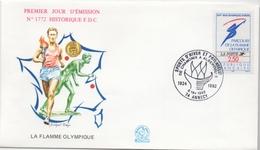 Enveloppe Commémorative - Passage De La Flamme Olympique à Annecy En 1992 Pour Les J.O. D'Albertville (1992) - Other
