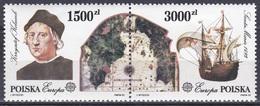 Polen Poland 1992 Europa CEPT Geschichte History Entdeckungen Discovery Kolumbus Schiffe Ships Seefahrt, Mi. 3377-8 ** - Ungebraucht