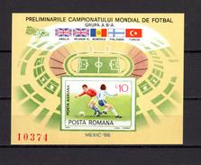 Romania 1985 Football Soccer World Cup, Space S/s Imperf. MNH - Fußball-Weltmeisterschaft