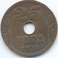 Yugoslavia - Peter II - 1938 - 25 Para - KM17 - Yougoslavie