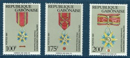 Gabon, Gabonese Medals, 1991  MNH VF  Complete Set Of 3 - Gabon (1960-...)