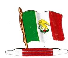 Figurine Publicitaire Biscuits L'Alsacienne Petit-Exquis - Drapeau - Mexique - Années 60/70 - Tôle - Americorama - Publicité