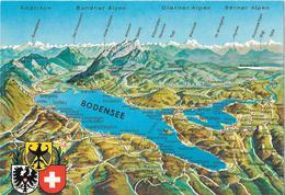 BODENSEE - Carte Géographique - Cartes Géographiques