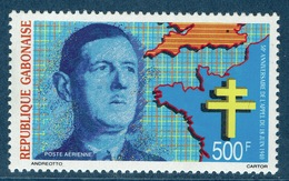 Gabon, Charles De Gaulle, Appeal Of 18 June, 1990  MNH VF  Airmail - Gabon