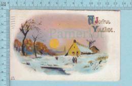 Carte Postale CPA - Yuletimes - Used Voyagé En 1913, By J. Marks N.Y. + CND Timbre, Send To Dixville Quebec - Cartes Postales