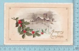 Carte Postale CPA - Merry Christmas- Used Voyagé En1912, + CND Timbre, - Cartes Postales