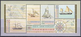 Australien Australia 1992 Geschichte History Entdeckungen Discovery Amerika Kolumbus Columbus Schiffe Ships, Bl. 13 ** - 1990-99 Elizabeth II