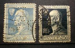 """064 - ITALIA - REGNO - 1927 - """" Lotto PERFIN Alessandro Volta """" Viaggiati - Usati"""