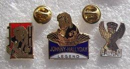 JOHNNY HALLYDAY 3 PIN'S      DDDD  114 - Berühmte Personen