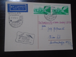 SONDERFLUG FRANKFURT-WIEN/VIENNA - AUSTRIAN AIRLINES - AUA - 27.9.1958 - First Flight Covers