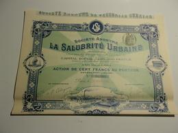 LA SALUBRITE URBAINE (1905) - Non Classés