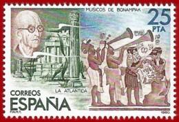 España. Spain. 1980. Manuel De Falla Y Pintura Mural De Bonampak (Mejico) - 1931-Hoy: 2ª República - ... Juan Carlos I