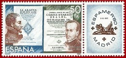 España. Spain. 1980. Alonso De Ercilla Y El Inca Garcilaso De La Vega - 1931-Hoy: 2ª República - ... Juan Carlos I