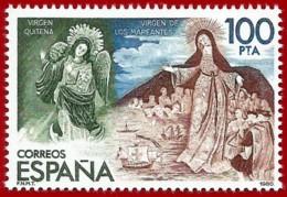 España. Spain. 1980. Virgen Alada De Quito Y Virgen De Los Mareantes - 1931-Hoy: 2ª República - ... Juan Carlos I