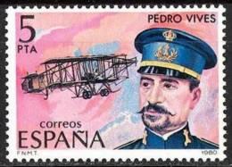 España. Spain. 1980. Pedro Vives Vich. Pionero De La Aviacion Española - Celebridades
