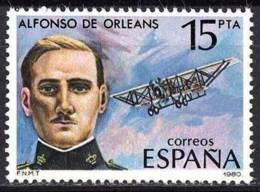 España. Spain. 1980. Alfonso De Orleans Y Borbon. Pionero De La Aviacion Española - Celebridades